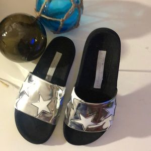 Stella McCartney metallic Star Slides
